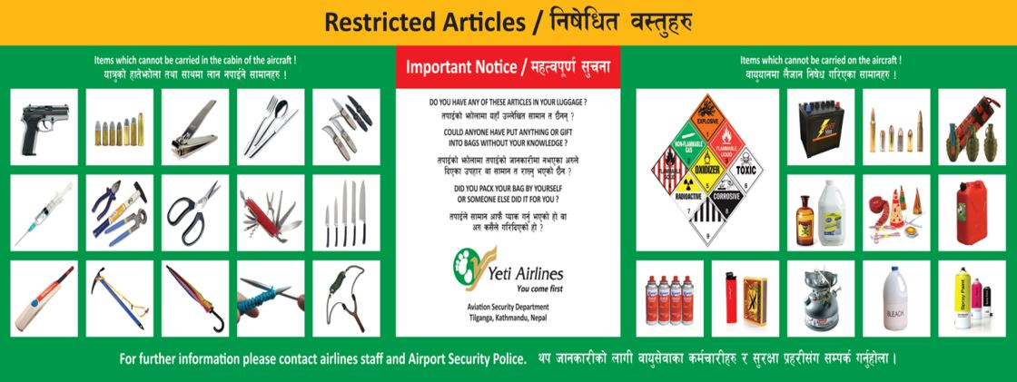 Articles not allowed on airplanes india - Banned Totally